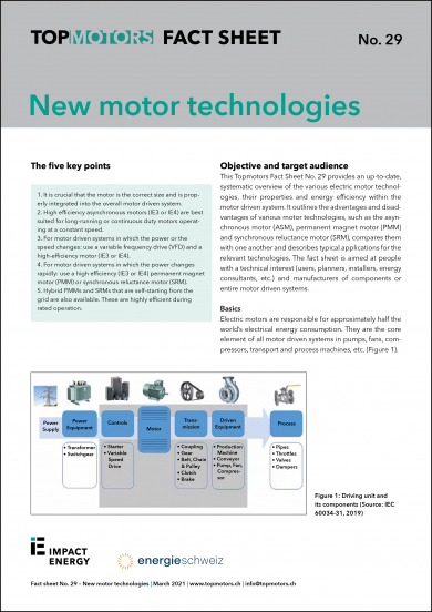 Fact Sheet No. 29: New motor technologies